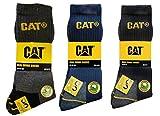 Caterpillar CAT Herren Universal Arbeitssocken, 3|6|9|12 Paar wahlweise, in Schwarz, Blau, Grau und 41-45 | 46-50, Socken (46-50, 6 Paar (3 Schwarz + 3 Blau))