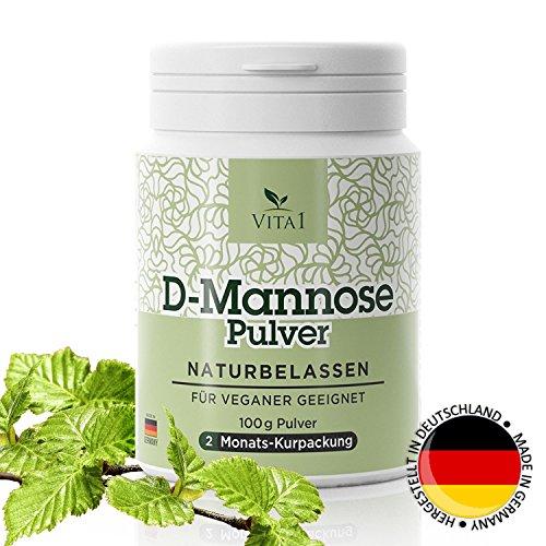 beliebtesten Die Produkte (D-Mannose Pulver • diätische Behandlung gegen Blasenentzündung • 100g (2 Monatspackung) • 100% rein und naturbelassen & vegan und frei von Zusatzstoffen • Hergestellt in Deutschland)