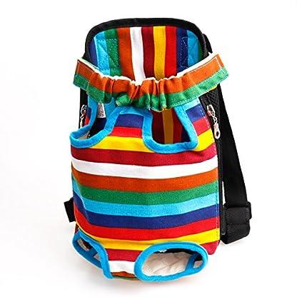 TiaoBug Dog Portable Backpack Carrier Pet Outdoor Travel Bag Hiking Camping 4