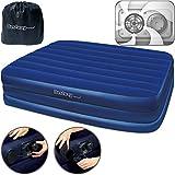 Bestway Luftbett XL Luftmatratze Gästebett | 203 x 152 x 56cm | inkl. integrierter elektrischer Luftpumpe + Tragetasche | für 2 Personen