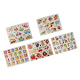 Sharplace 5 Sets Puzzles en Bois...