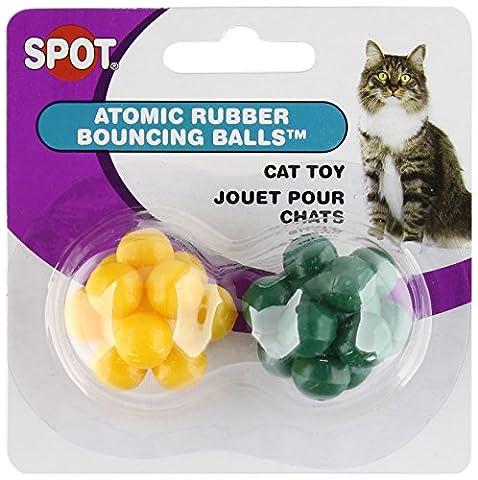 Atomic Bouncing Ball 2 Pc Ethical Pet Atomic Bouncing Ball Hundespielzeug, 2 Stück