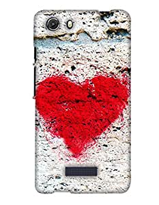 PrintHaat 3D Hard Polycarbonate Designer Back Case Cover for Micromax Unite 3 Q372 :: Micromax Q372 Unite 3 (love :: lovely couple :: joined hands making a heart :: sunset point :: romantic couple:: lovely design :: lovable :: in black, yellow and orange)