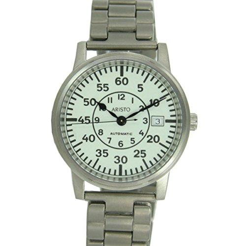 Aristo 5H92TiB - Reloj unisex, correa de titanio
