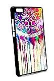 Case Schutz Hülle SILIKON TPU Traumfänger Traum fänger kunst gemalt (Huawei P8 Lite)