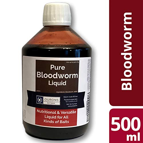 Ourons Pure Bloodworm Liquid - 100% Hydrolysate Blood Extract Premium Fishing Carp Attractant