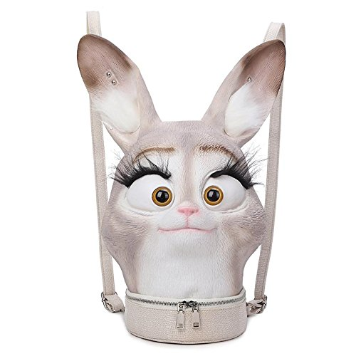 Preisvergleich Produktbild Rucksack Männer und Frauen 3D-Stereo-Kaninchen-Paket Persönlichkeit Rucksack