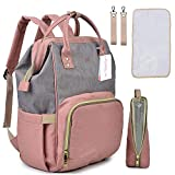 #6: Motherly Babies Diaper Bags for Mothers with 1 Bottle Bag + 1 Changing Mat + 1 Set of Stroller Hooks (Powder Gray)
