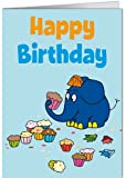 Cartolina formato 11,5x 16cm + + + Sendung mit der Maus di Modern Times + + + HAPPY BIRTHDAY elefante + + + ARTCONCEPT© colpo, Friedrich