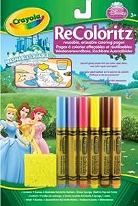 Crayola - 04-5018 - Activités Créatives dessin et feutres pages a colorier effacables et reutilisables princess