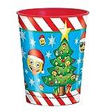 16oz Emoji Navidad taza de plástico