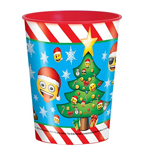 Unique Party Supplies Klauenhammer, Emoji-Weihnachten Kunststoff Tasse