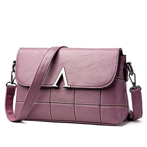 BUKUANG Paket Mobile Messenger Tasche Wilde Weibliche Mutter Mittleres Alter Atmosphärische Schulter Handtaschen,Purple Purple
