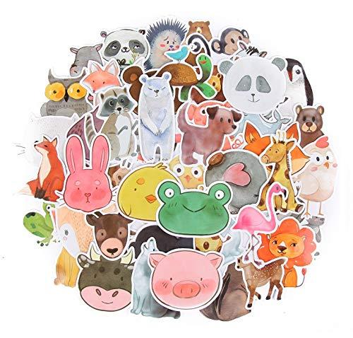 ⭐Top Aufkleber! ⭐ Set von 50 Tieren Aufkleber Premium Qualität - Vinyls Stickers Nicht Vulgär von Tier - Fashion, Bomb, Grafitti, Cool - Anpassung Laptop, Gepäck, Motorrad, Fahrrad, Skateboard