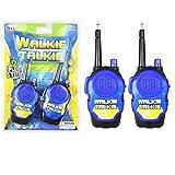 Walkie Talkies für Kinder, Gusspower Outdoor Funksprechanlage 2 Stück, Handheld Mini langlebig Radio Funkgeräte Spielzeug für Camping und Wandern (Blau)
