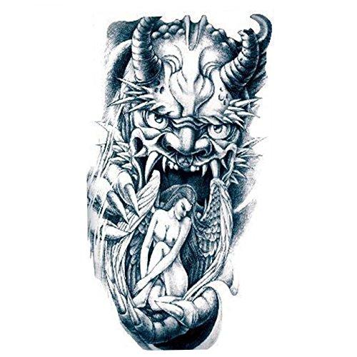 r Erwachsene Lion holt ein Mädchen Engel realistisch und nicht toxisch gefälschte Aufkleber Tätowierung (Lion Tattoo)