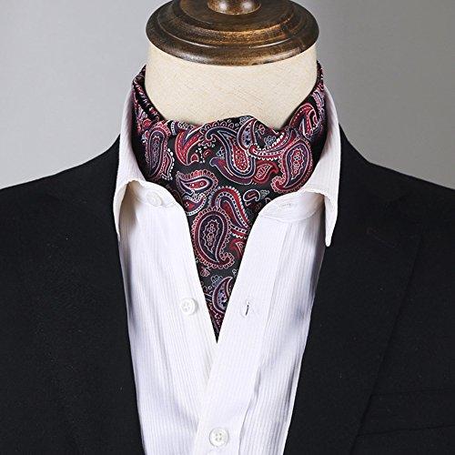 LIANGJUN Satin Krawatte Elegent Männer Krawattenschal Schal Parteien Formelle Anlässe Passen Smoking, 24 Arten Verfügbar, 117X15.5cm ( Farbe : 8# ) (Smoking Passen)