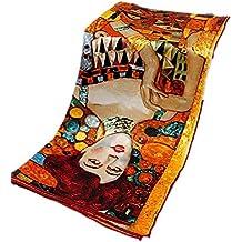 Prettystern - Soie Serviettes 90cm x 90cm art nouveau print neckerchief art peintre Gustav Klimt - de nombreux motifs