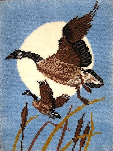 M C G Textiles 24 x 32-inch Moon Geese Latch Hook Kit