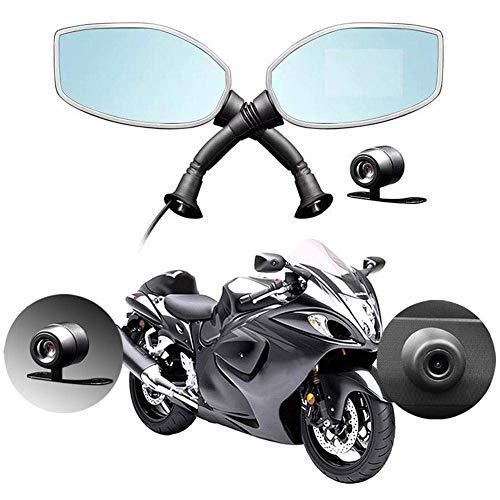 Motorrad-Rückspiegelkamera, 2,7-Zoll-Bildschirm Automatischer Recorder Cam-Loop-Aufnahme Dual-Lens-Videorecorder Digitaler Videorecorder
