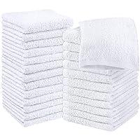 Utopia Towels Cotton Washcloths, 24 - Pack (White)