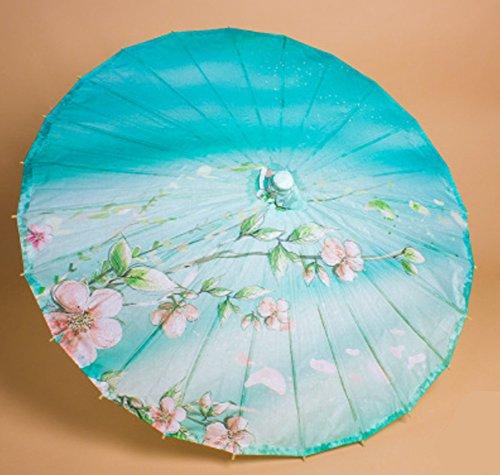 A-goo Chinesische Papier Sonnenschirm Bambus klassische Regenschirm Tanzen Regenschirm - Peach