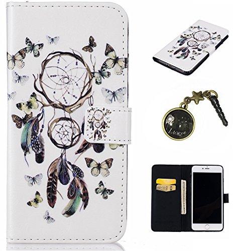 PU Silikon Schutzhülle Handyhülle Painted pc case cover hülle Handy-Fall-Haut Shell Abdeckungen für Apple iPhone 7 Plus (5.5 Zoll) +Staubstecker (1WW) 8