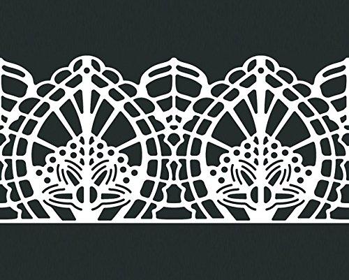 Price comparison product image Martellato Lace Effect Design 15 Decoration Mat, Silicone, Orange/White, 30 x 40 cm