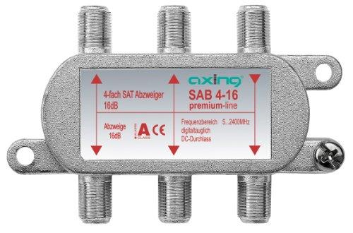 Axing SAB 4-16 4-Fach SAT-Abzweiger mit 16 dB Abzweigdämpfung (5-2400 MHz)