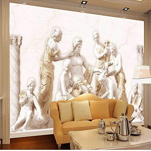Benutzerdefinierte Fototapete 3D Europäischen Römischen Statuen Kunst Wandbild Wohnzimmer Retro Sofa Hintergrund 3D Wallpaper Wandbild Wandmalerei-280X200cm