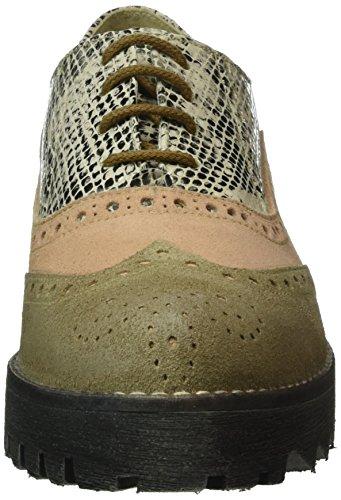 Marc Shoes Katy, Derby femme Beige - Beige (taupe-combi 00113)