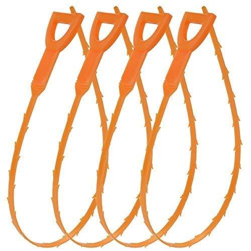Poualss 4 Pack Hair Drain Clog Remover, Kunststoff-Drain-Schlange Reinigungswerkzeug Multi-Zahn-Drain-Schlange 20,5 Zoll