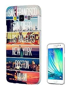 189 - US Cities New York Miami Los Angeles Design Samsung Galaxy J1 Fashion Trend Protecteur Coque Gel Rubber Silicone protection Case Coque