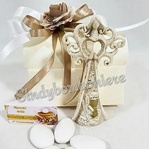 Bomboniere comunione angelo albero della vita icona sacra calice e ostia - Angelo Icona