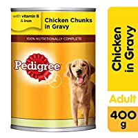 Pedigree Chicken Chunks in Gravy, Wet Dog Food, Can, 400 gm