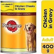 Pedigree Chicken Chunks in Gravy, Wet Dog Food, Can, 400 gm