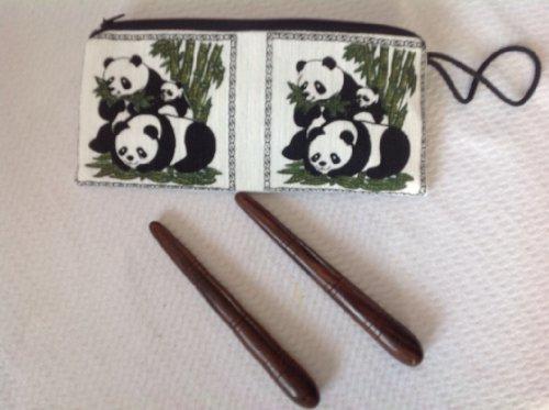 In einem Baumwollbeutel zwei sehr stabile Massage Stick / Stab - aus HARTHOLZ - NEU und ORIGINAL aus Thailand