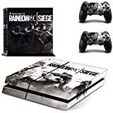 Playstation 4 + 2 Controller Design Sticker Protector Set - Rainbow Six Siege (1) /PS4 by THTB