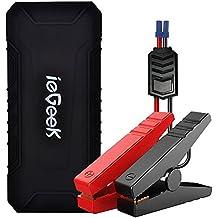 ieGeek 600A Peak per Auto Portatile Salto D'Avviamento Jump Starter Avviatore Di Emergenza Per Auto Banca di Potere di Volume 12000mAh per auto Protezione di Sicurezza Avanzata e Incorpora la Torcia LED, 2 USB Porta di Ricarica