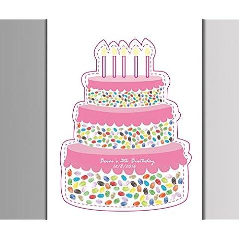 XYXY Pittura di impronte digitali Pittura di impronta digitale DIYSignature compleanno festa Baby Shower torta (Baby Shower Inviti Libri)