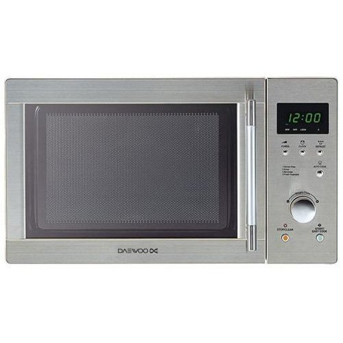 Daewoo KOR6N7RS Touch Control Solo Microwave Oven, 20 Litre, 800 W, Stainless Steel