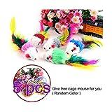 Ndier Mäuse Spielzeug für Katze Kit von 5 Pack zufällige Farben Furry Kätzchen Mäuse