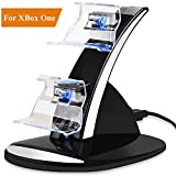 LILY Chargeur pour Contrôleurs Xbox One / One S / One X, Double USB de Chargeur Rapide pour Manette Xbox One Console Charging Dock Support Station