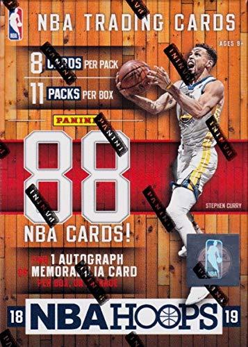 2018 2019 Hoops NBA Basketballbox mit einer garantierten Autogrammkarte oder Erinnerungskarte pro ungeöffneten Blaster-Box mit Packungen möglicher Rookies und Sterne