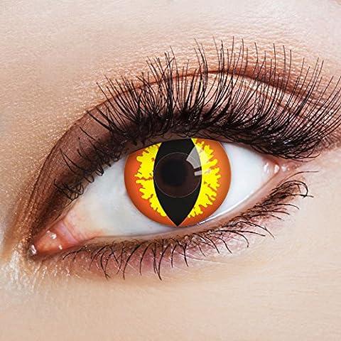 aricona Farblinsen rote Halloween Kontaktlinsen Katzenaugen farbige Jahreslinsen (Cat Kostüme Amazon)