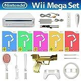 Wii MegaSet - Konsole #weiß (inkl. 5 Spiele, Remote, Lightgun & viel Zubehör)