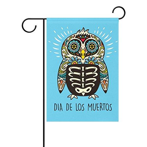 r Skull Deko Garten Flagge Polyester für Home Garten Decor (Sugar Skull-fahne)
