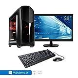 Sedatech Pack complet PC Gamer Advanced Intel i5-7400 4x 3.00Ghz (max 3.5Ghz), Geforce GTX1050Ti 4Go, 8Go RAM DDR4, 250Go SSD, 1To HDD, USB 3.0, Wifi, HDMI2.0, DirectX 12, Alim 80+. Unité centrale avec moniteur TFT-LED 21.5', clavier & souris et Windows 10 64 Bit