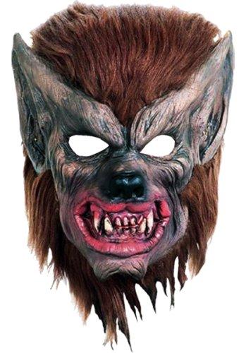 KOSTÜM MASKE ZUBEHÖR SMUDGE DICKEM SCHAUMSTOFF, MIT BRAUNEM HAAR (Latex-schaum-halloween-masken)