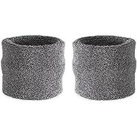 Suddora polsini assorbi sudore per bambini, in cotone e spugna, polsini per sport (1 paio), Grey